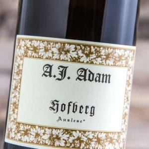 Etiqueta A.J. Adam Hofberg Riesling Auslese 2016