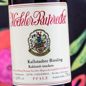 Etiqueta Koehler-Ruprecht Kallstadter Riesling Kabinett Trocken Alemania Palatinado